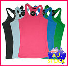WOMENS GYM Tank NEW Singlets Stringer Training Lifting Fitness Y Back - WYBS