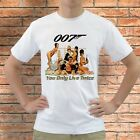 New 007 You Only Live Twice Roger Moore  White T Shirt All Size S - 3XL