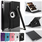 For Apple iPad 2/3/4 360 Rotating Magnetic  Leather Case Smart Cover Stand UK