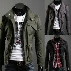 HOT Style Men's New Cool Casual Stylish Slim Fit Zip Coat Military Jacket 4 Size