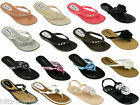 New Women Lady Flip Flops Sandals Beach Shoe Flat Jelly Thong Summer Size UK