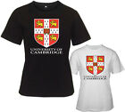 New Cambridge University Logo Women's White Black T-Shirt Size S M L XL 2XL