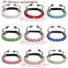 S277/ Fashion Shamballa Bracelet 10MM 9 Disco Crystal Clay Balls gift wholesale
