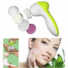 5 in 1 Electric Cleaner Wash Face Skin Care Beauty Facial Brush Massager LOT