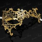 Elegant Gold Collection - Venetian Masquerade Mask with Sparkling Rhinestones