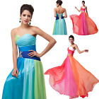 Long Ball Sexy Dresses Prom Strapless Chiffon Gown Evening Prom Dress 2/4/6/8/10