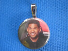 Usher  Raymond  the Voice Favorite Judge  handmade changeable  Insert  Necklace
