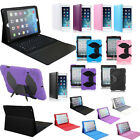 Leather Bluetooth Wireless Keyboard Case Cover Stand For Apple iPad Air iPad 5