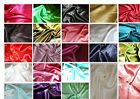 Silky Satin back crepe polyester dress fabric:18 colours @ £2.95 per metre