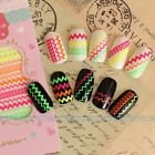 New 3D Colorful Nail Art Tips Polish Sticker Decal Wraps Acrylic DIY Decoration