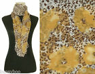 New Women's Leopard Animal Print Summer Scarf Floral Scarves Viscose Wrap Shawl