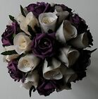 Ivory Artificial Silk Wedding Rose Crystal Diamante Brides Flower  Bouquet