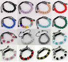 Fashion Handcraft 10MM*11 CZ Crystal Ball Beads Shamballa Bracelet Jewelry Gift