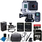 GoPro Hero3+ Plus Black Edition HD Camcorder Camera + 2 Battery + 64GB Top Kit