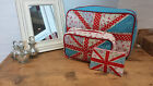 Vintage Chic Ditsy Floral Union Jack Flag Wash Bag Make Up Purse Shabby Country