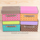 1x Korean Style Non-Woven Underwear Organizer Storage Box Cute Heart Print Case