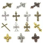 Christian Cross Charms & Pendants - Nickel Free Tibetan Silver - Many Styles