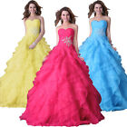 New Sweet Long Formal Layered Prom Evening Bridesmaid Dress Party Wedding Gowns