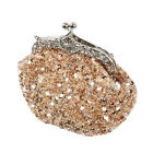 BMC Glamour Elegant Satin Beaded Bridal Sequin Vintage Cocktail Party Handbag