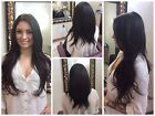 Brazilian Russian Indian RAW VIRGIN Human Hair Extensions Natural Straight #1B