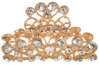 Gold Rhodium Hair Claw Clips Gripper Clamp Crystal Alloy Hairpins Barrette