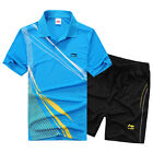 2014 LiNing Mens Table Tennis Badminton Athletic Contest Shirt +Shorts