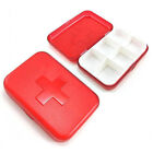 NEW Mini 6 Grid Red Cross Aid Box Case Storage Organizer HQS-B1037