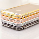 Luxury Crystal Rhinestone Diamond Bling Metal Case Cover Bumper For iPhone 4S 5S