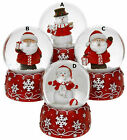 Waterball - SANTA SNOWMAN SNOWFLAKE WATER BALL SNOW GLOBE - Choice of Designs