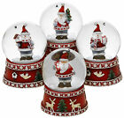 Waterball - SANTA SNOWMAN CHRISTMAS WATER BALL SNOW GLOBE - Choice of Designs