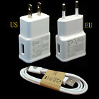 OEM US/EU Charger+USB Data Sync Cable Adapter For Galaxy Note2 II N7100 S4 S3
