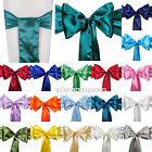 """10/20/50PCS 6""""x108"""" Satin Chair Cover Sashes Bow Wedding Party Decor 22 COLORS"""