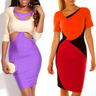 Stone Fashion Women Sexy Package Hip Mixed Colors Party Evening Dress Skirt
