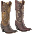 Lucchese M4800 Espresso or M4802 Antique Red Womens Leather Western Cowboy Boots