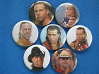Shawn Michaels WWF WWE Necklace &/or Pinback Buttons set of 7 SELECT A SIZE
