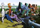 Neon Genesis Evangelion  ANIME BIG POSTER, Various sizes from A3, A4