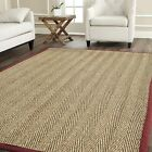 Safavieh Natural Fiber Seagrass NATURAL/RED Area Rugs - NF115D