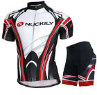 Mens Team Cycling Jersey Padded Shorts Kits Bike Shirt Brace Tights Outfits Set