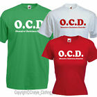 OCD  Obsessive Christmas Disorder funny tshirt Mens Ladies Kids secret santa
