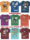 Choose your Team & Size NRL KIDS MASCOT T SHIRT TSHIRT INFANT TODDLER BABY SIZES