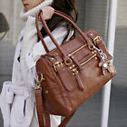 2014 New Womens Ladies Tote Handbag Fashion Faux Leather Shoulder Shopping Bag