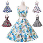 Ball Vintage Retro Classy Floral Style Cocktail Evening Prom Tea Party Dress NEW