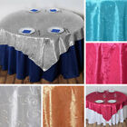 """20 pcs EMBROIDERED TAFFETA 72x72"""" TABLE OVERLAYS Wedding Party Linens Supplies"""