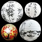 Paper Lantern Lamp Shade Oriental Decoration Bamboo Chinese Red Blossom Boat 13""