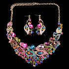 CHEAP SALE~Vintage Wedding Evening Party Crystal Earring&Necklace Jewelry Set