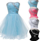 Chic Beaded Prom Party Evening Bridesmaid Ball Gown Short Mini Pageant Dress NEW