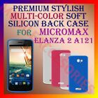 ACM-PREMIUM MULTI-COLOR SOFT SILICON BACK CASE for MICROMAX ELANZA 2 A121 COVER