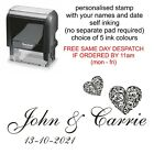 personalised wedding/engagement/celebration rubber stamp for invites,favours etc