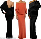 ORANGES MULTI WAY Reversible PLUNGING Convertible MAXI DRESS Off Shoulder Party