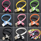 Short Flat Micro USB2 Colour Sync Cable for Android HTC Samsung Galaxy S6 S7 MP3
